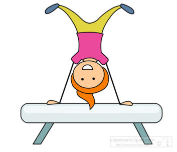Gymnast clipart kid gym Favorite ClipartWar Clipart 6645 Gymnastics