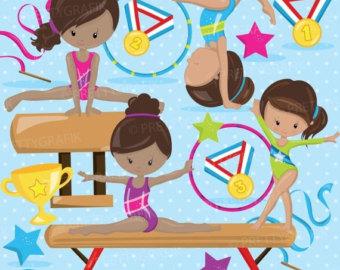 Gymnast clipart kid gym Gymnastic clipart Girls OFF clipart