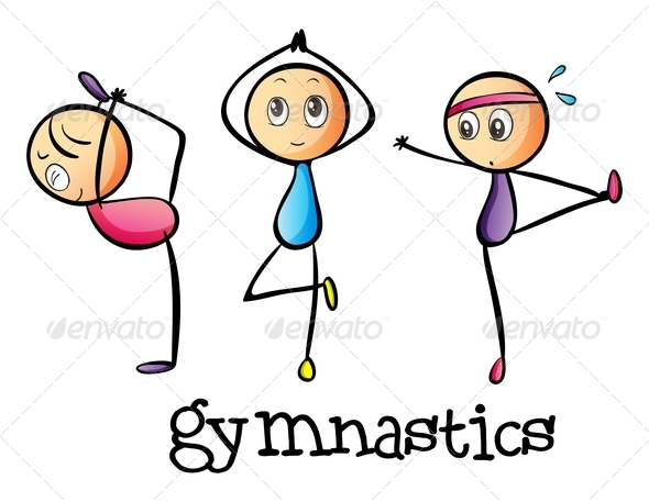 Gymnast clipart kid gymnastics Art Tinkytylerorg Rings Clipart Kids