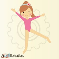 Gymnast clipart kid gymnastics Design clipart Cute Asmaa