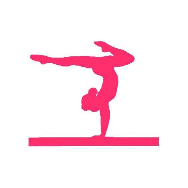Pink clipart gymnastics Decals Silhouette gymnastics Decals