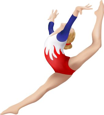 Gymnast clipart leap Pw Gymnastics Leaping Free Through