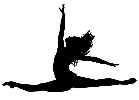 Gymnast clipart leap Sticker Leaping  Beauty Vinyl