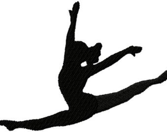 Gymnast clipart child yoga Leap Clipart Silhouette Panda Gymnastics