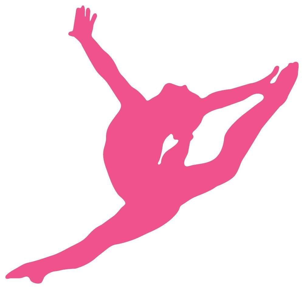 Pink clipart gymnastics Silhouette Gymnastics Clipart gymnastics%20silhouette%20leap Images