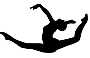 Gymnast clipart leap Cliparts Cliparts Silhouette Zone Tumbler