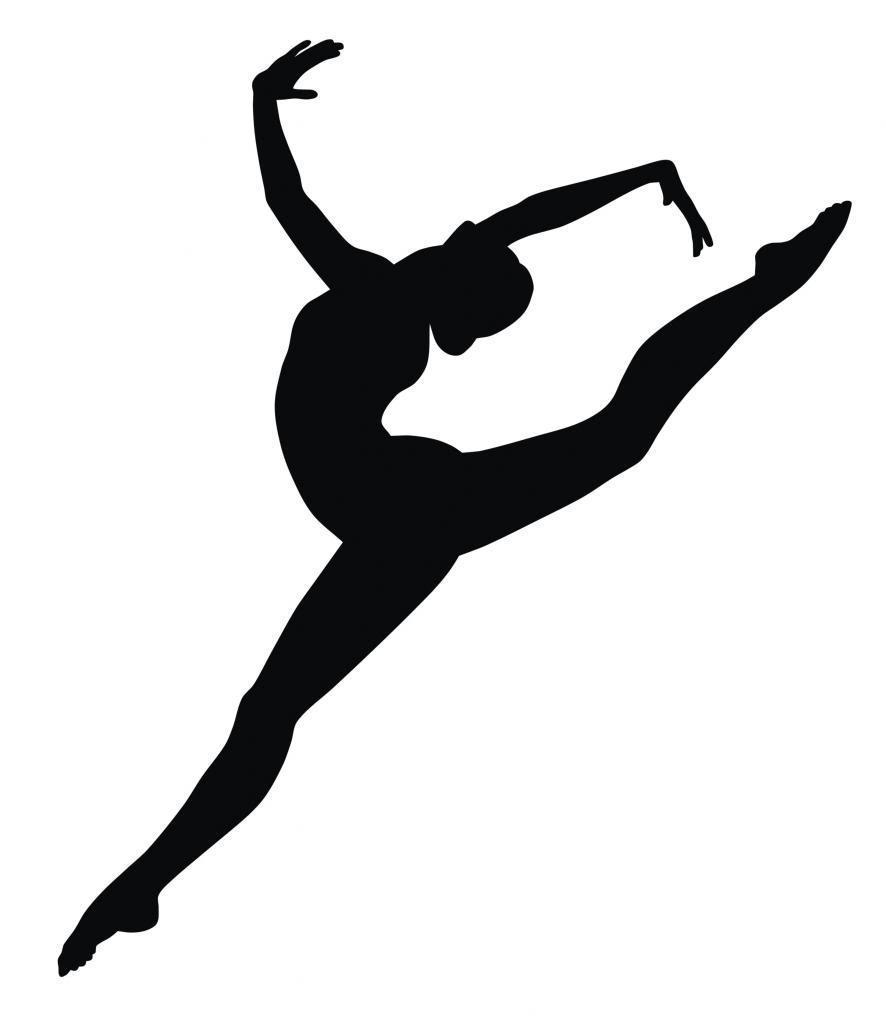 Gymnast clipart leap Gifts Wall about Sticker Gymnast
