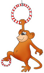 Gymnast clipart monkey Clip gymnastic monkey drawings Funny