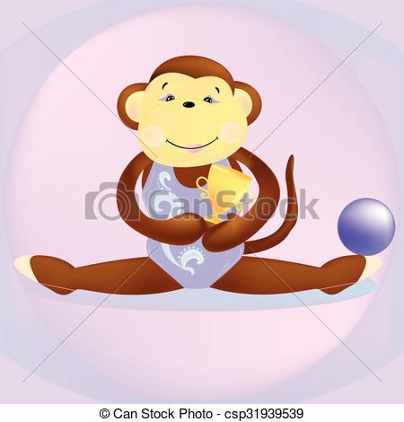 Gymnast clipart monkey The Vectors  of this