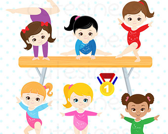 Gymnast clipart needle BABY Watercolor Girl Girl Clipart