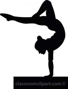 Gymnast clipart outline Clipart Free Clipart Silhouette Images