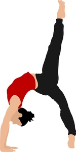 Gymnast clipart outline Athlete gymnast Art Athletic Image
