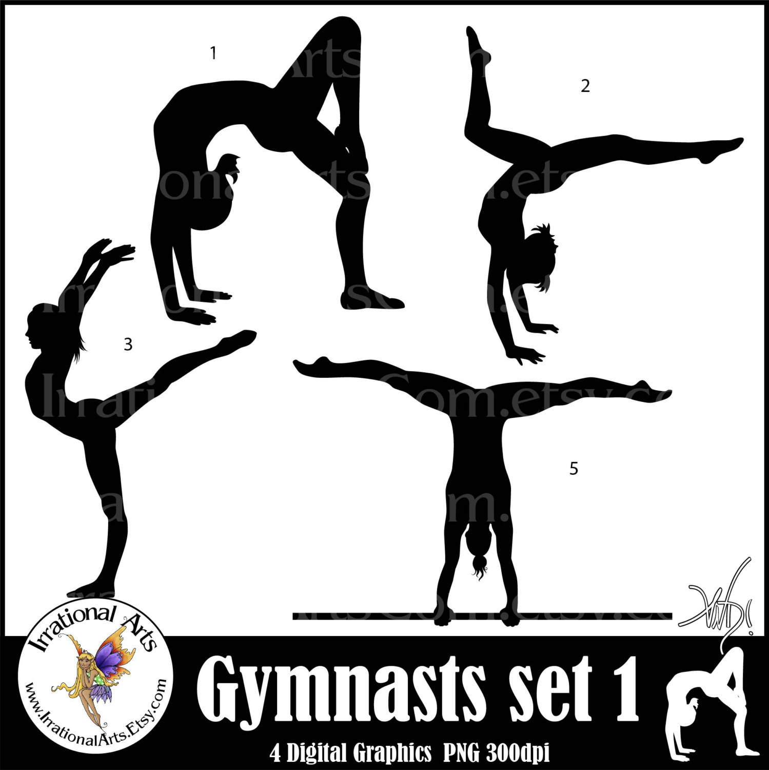 Gymnast clipart outline Sets Gymnast png tumbling clipart