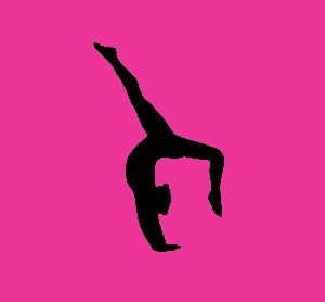 Pink clipart gymnastics Gym Pink Black vector Black