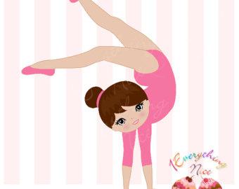 Pink clipart gymnastics Clip Girl Gymnast Gymnast Art