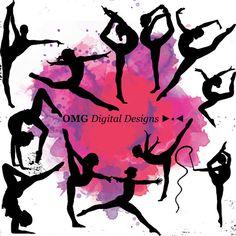 Gymnast clipart pink Gymnastic Elements Silhouette  gymnastics