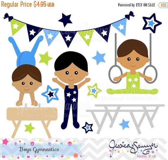 Gymnast clipart preschool gymnastics INSTANT clipart DOWNLOAD OFF little
