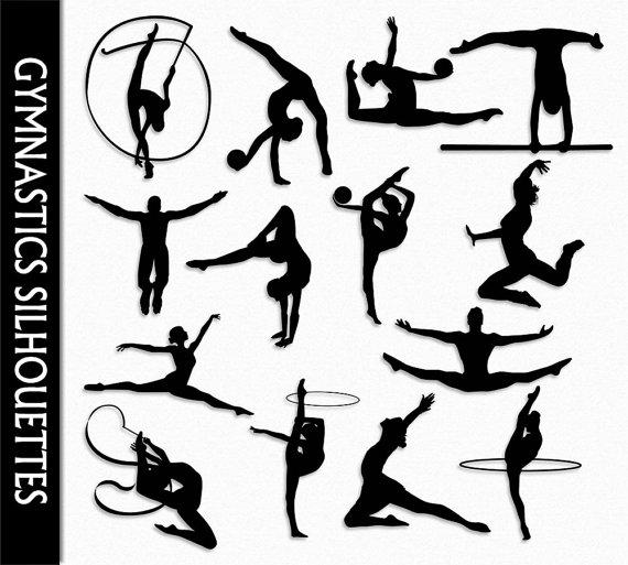 Gymnastics clipart ribbon Art by  Gymnastics CarmenClipArt