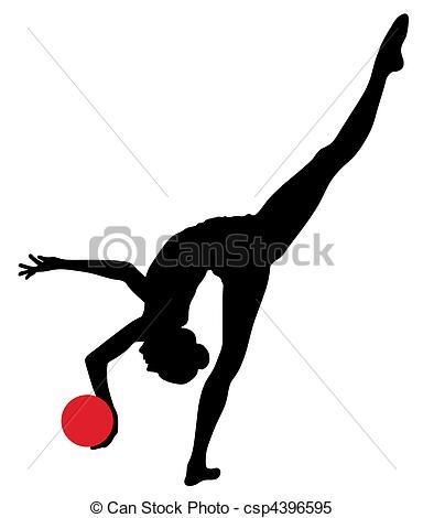 Gymnast clipart rhythmic gymnastics Gymnastic Rhythmic  Vector rhythmic