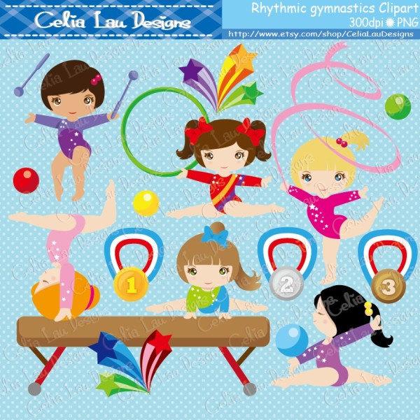 Gymnast clipart rhythmic gymnastics Etsy girl Gymnastics Gymnastics sport