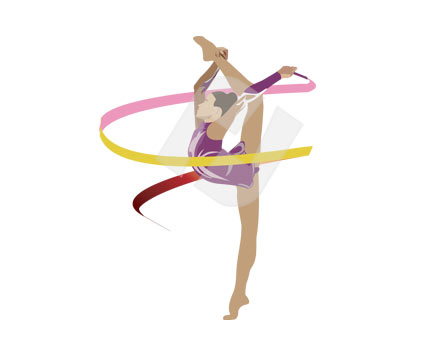 Gymnast clipart rhythmic gymnastics #10