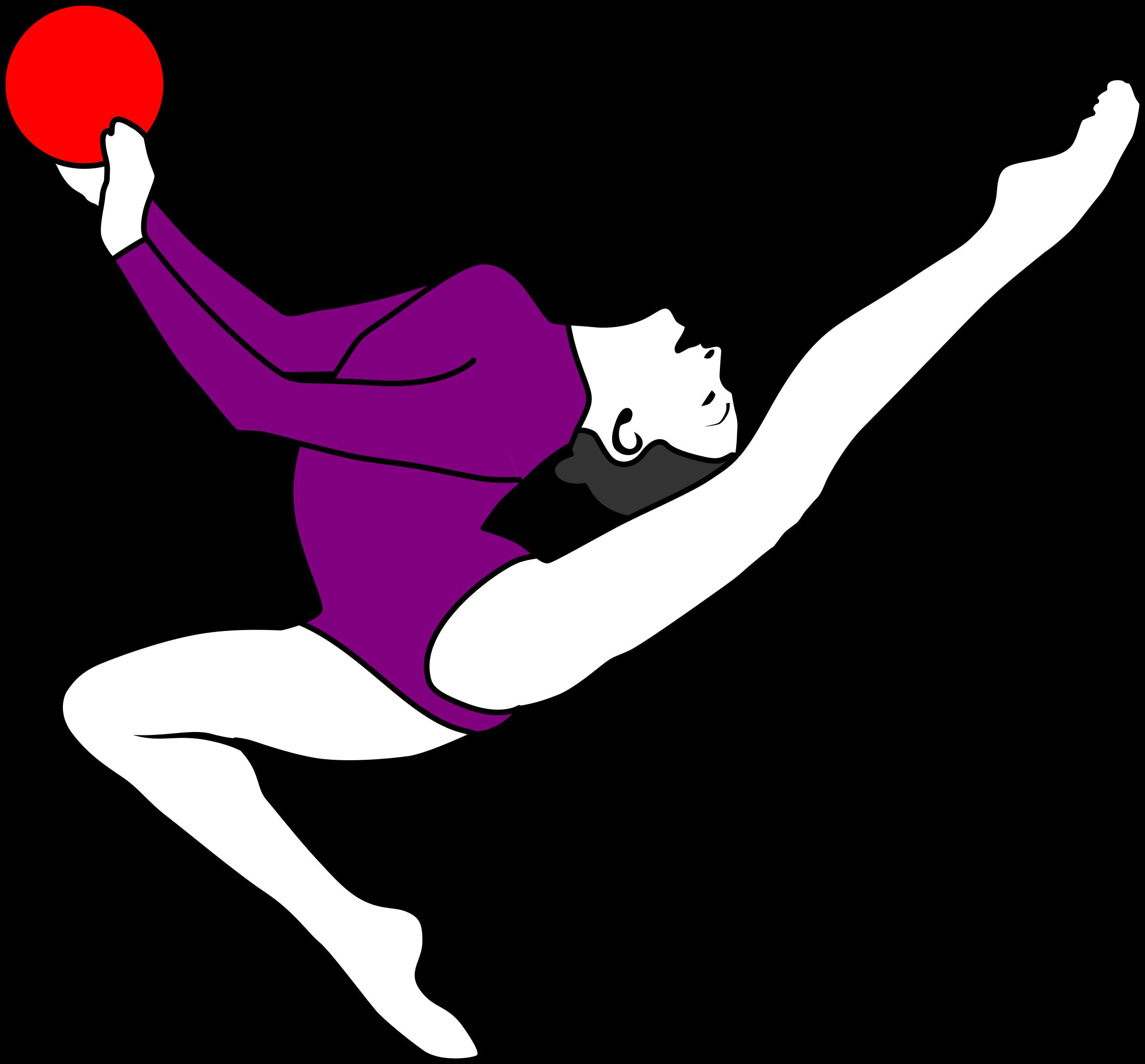 Gymnastics clipart purple Rhythmic Gymnastics  Clipart Clipart