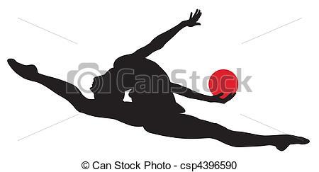 Gymnast clipart rhythmic gymnastics #2