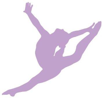 Gymnastics clipart purple Gymnastics%20silhouette%20leap Silhouette Free Leap Gymnastics