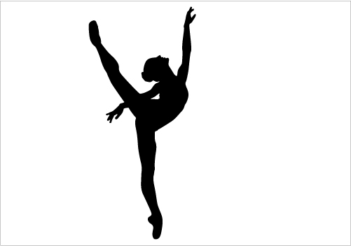 Gymnast clipart shadow Woman Art Download Free Now