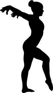 Gymnast clipart silhouette In Silhouettes images best 28