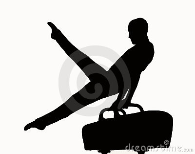 Gymnast clipart child yoga Silhouette Clipart Clipart Panda Gymnastics