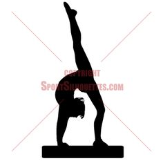 Gymnast clipart silhouette GYMNASTIC use this in Silhouettes
