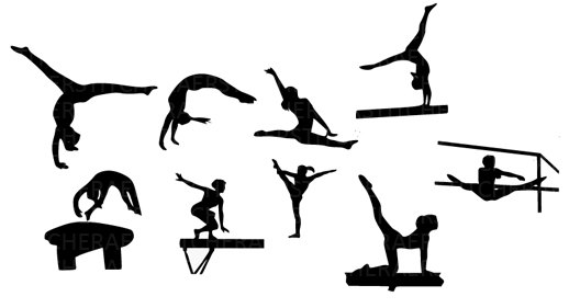Gymnast clipart silhouette Silhouette Gymnastics clipart Clipart silhouette