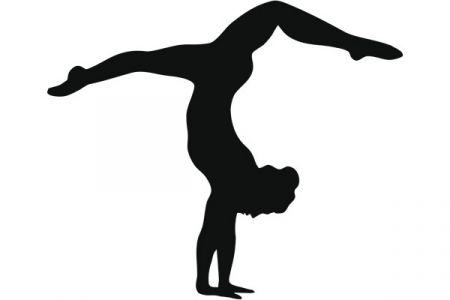 Gymnast clipart shadow Silhouette Silhouette Clip Clip Silhouette