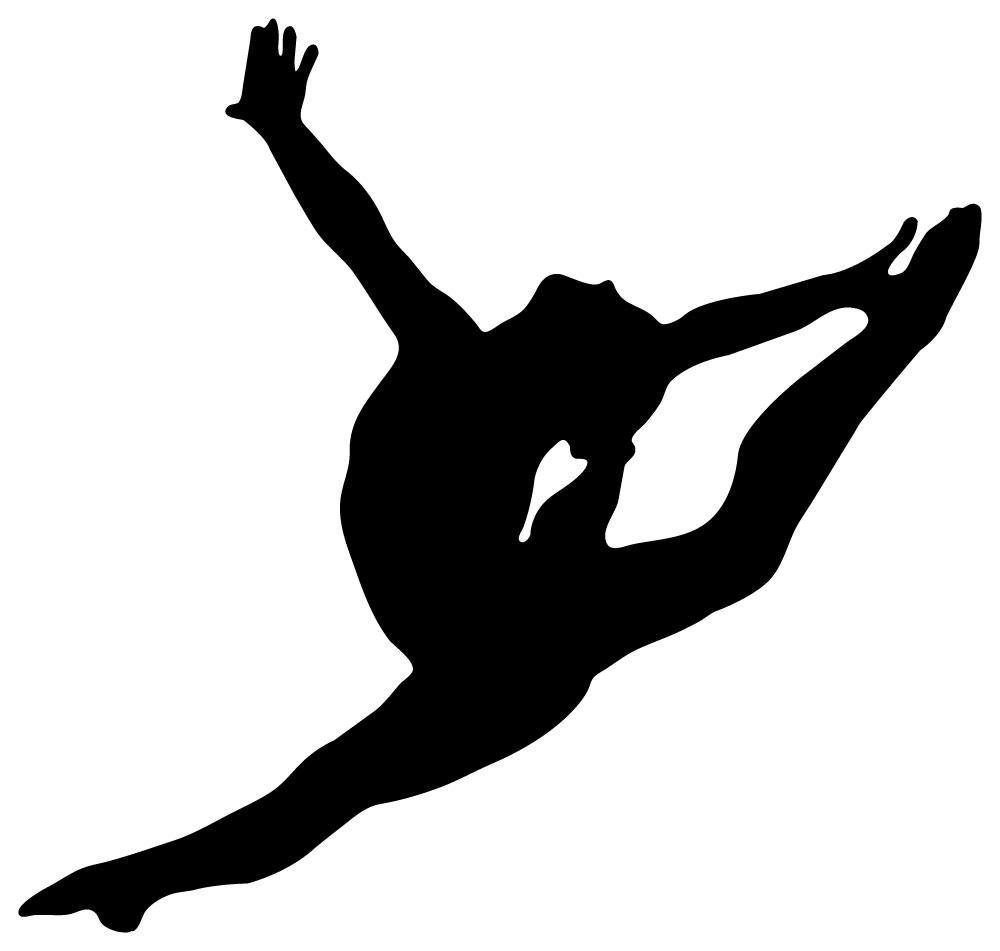 Gymnast clipart silhouette Graceful Art Free Download Free