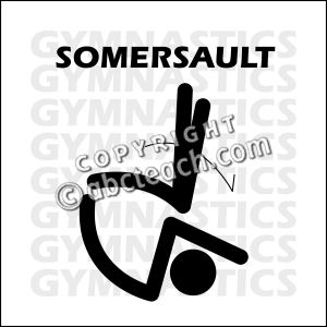 Gymnastics clipart somersault Black and Somersault Clipart Gymnastics
