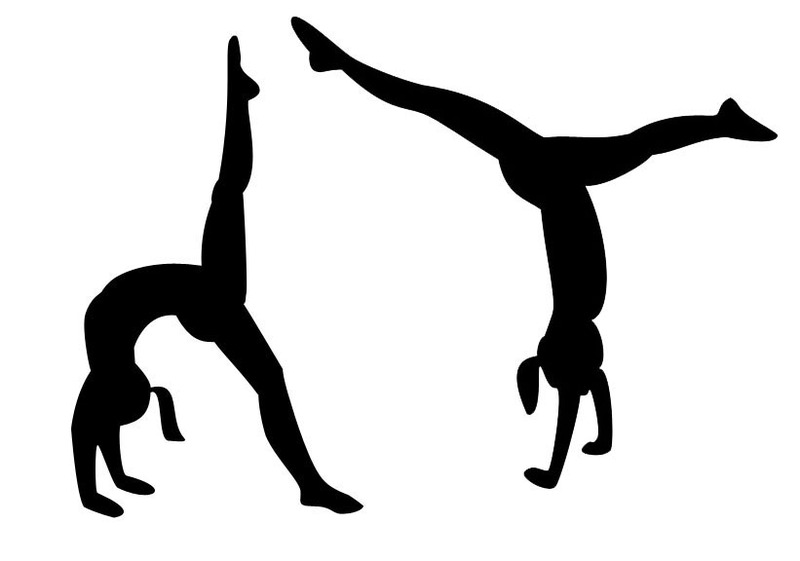 Gymnast clipart somersault Clipart Tumbling gym for gallery