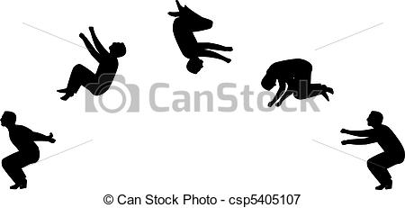 Gymnastics clipart somersault Back somersault IllustrationsVectors Somersault sillhouette