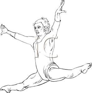 Gymnast clipart child yoga Picture White Gymnast Girl the