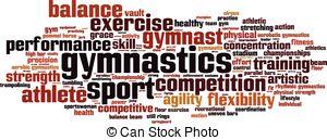 Gymnastics clipart the word  free word Gymnastics Art