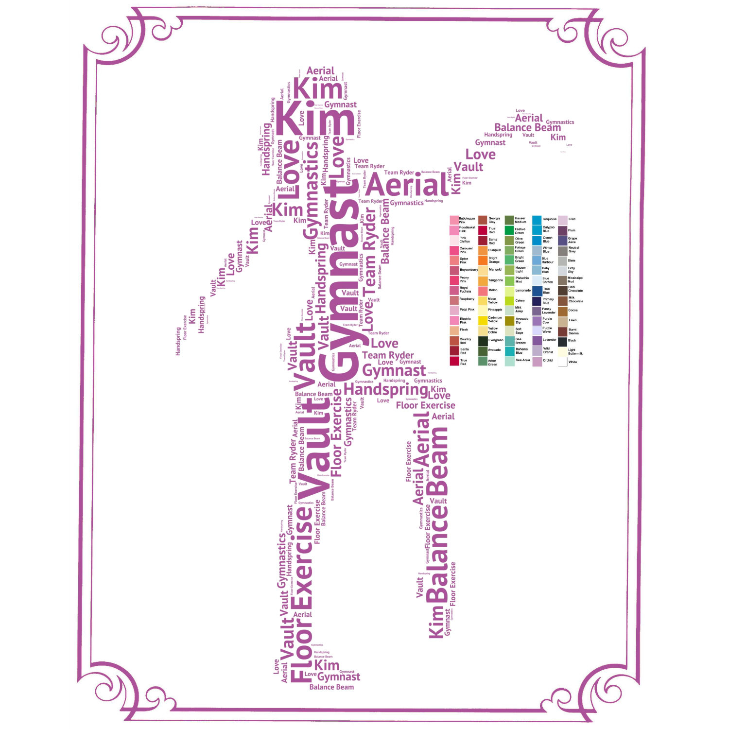 Gymnastics clipart the word PERSONALIZED Etsy Gift Gymnastics Gifts