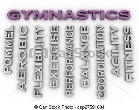 Gymnast clipart the word Image of Gymnastics image issues
