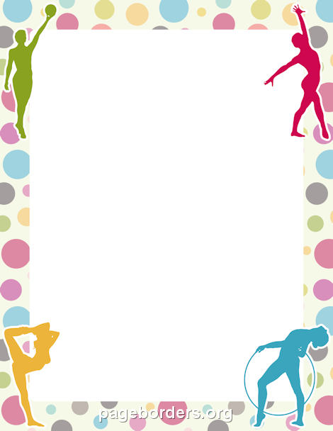 Gymnast clipart the word Border Graphics Free Sports Gymnastics