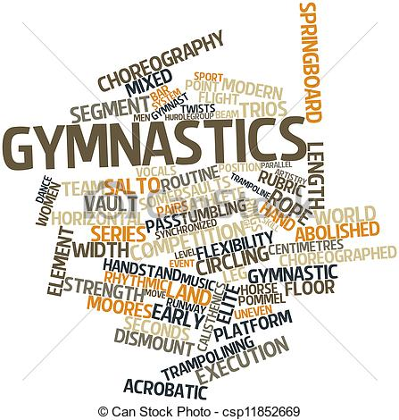 Gymnastics clipart the word Gymnastics Stock csp11852669 of Abstract