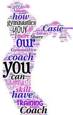 Gymnastics clipart the word Fun Cuttables Word Gymnastics for