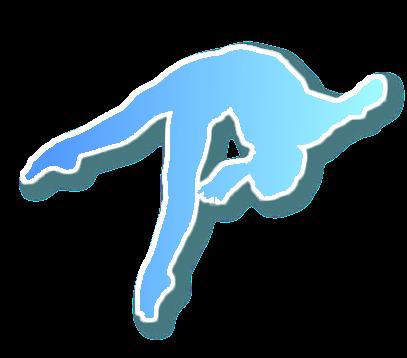 Gymnast clipart transparent Speedydigitech gradient gradient blue to