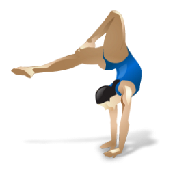 Gymnast clipart transparent Female PNG IconBug Gymnast Format: