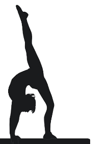 Gymnast clipart transparent  Gymnastics silhouette silhouette silhouette