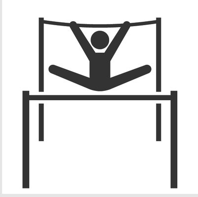 Gymnast clipart uneven bar Icon and Clipart and Uneven