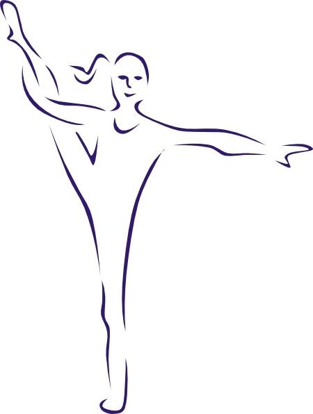 Gymnast clipart vector Gymnast drawing in art clip